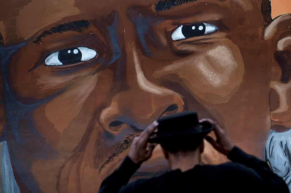 A mural dedicated to Freddie Gray in Baltimore, Maryland.