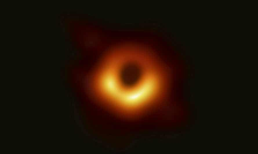 Image of a black hole released by the Event Horizon Telescope
