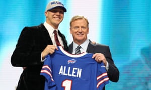 Josh Allen was picked No7 by the Bills on Thursday night in the NFL draft