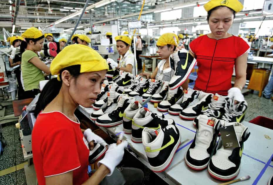 Shoe factory workers at a factory in Ho Chi Minh City