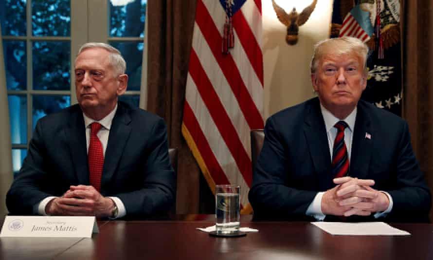 Donald Trump and Defense Secretary James Mattis