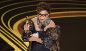 Ruth E. Carter accepts the award for best costume design for Black Panther.