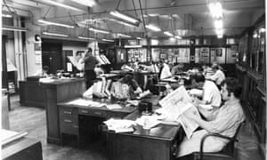 The Guardian's Cross Street office, August, 1970.