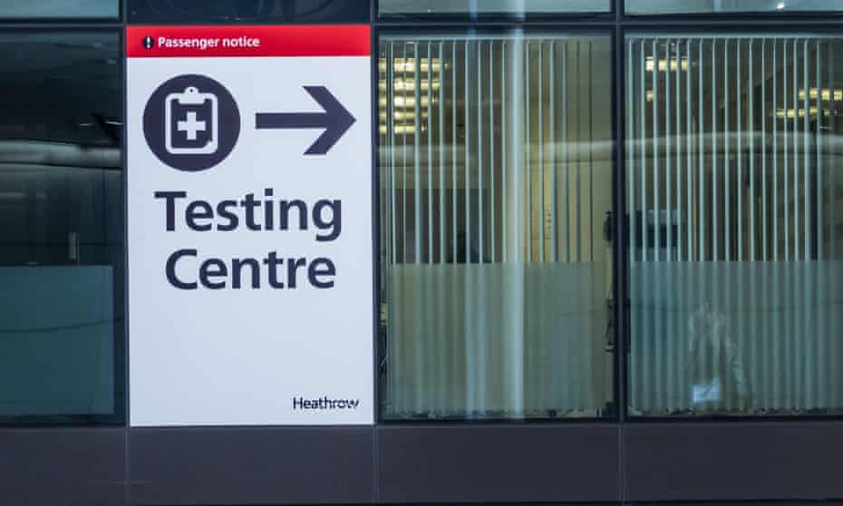 Test centre at terminal 2, Heathrow