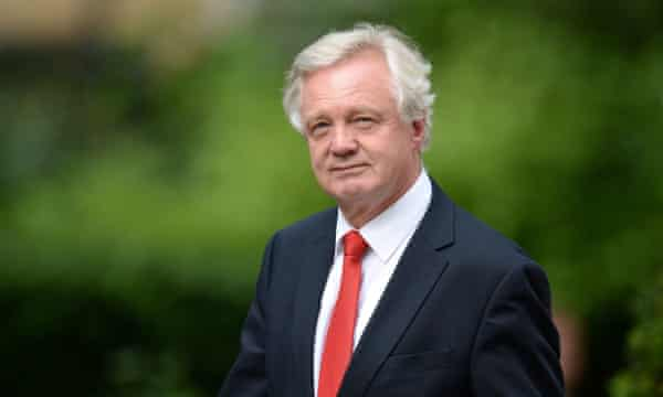 David Davis will be in charge of the Brexit department.