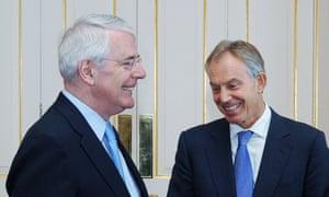 Sir John Major (left) and Tony Blair.