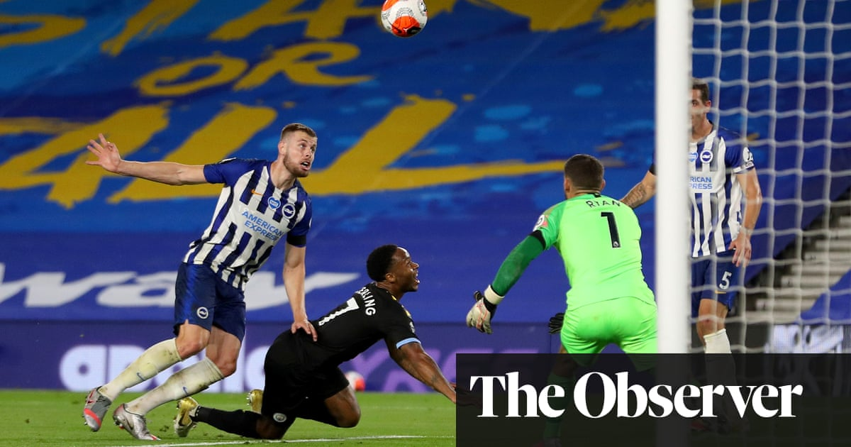 Raheem Sterling stoops to conquer Brighton with Manchester City hat-trick