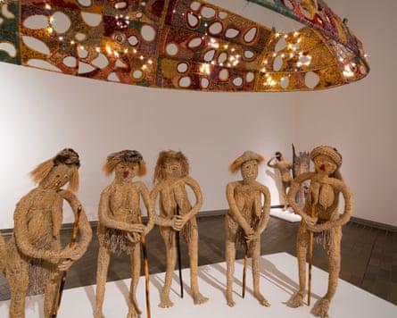 Kungkarangkalpa (Seven Sisters) by Tjanpi Desert Weavers, 2020 (installation view)