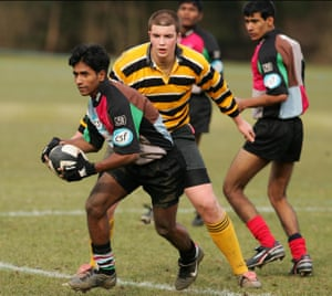 Future Hope in action in the Calcutta Cup.