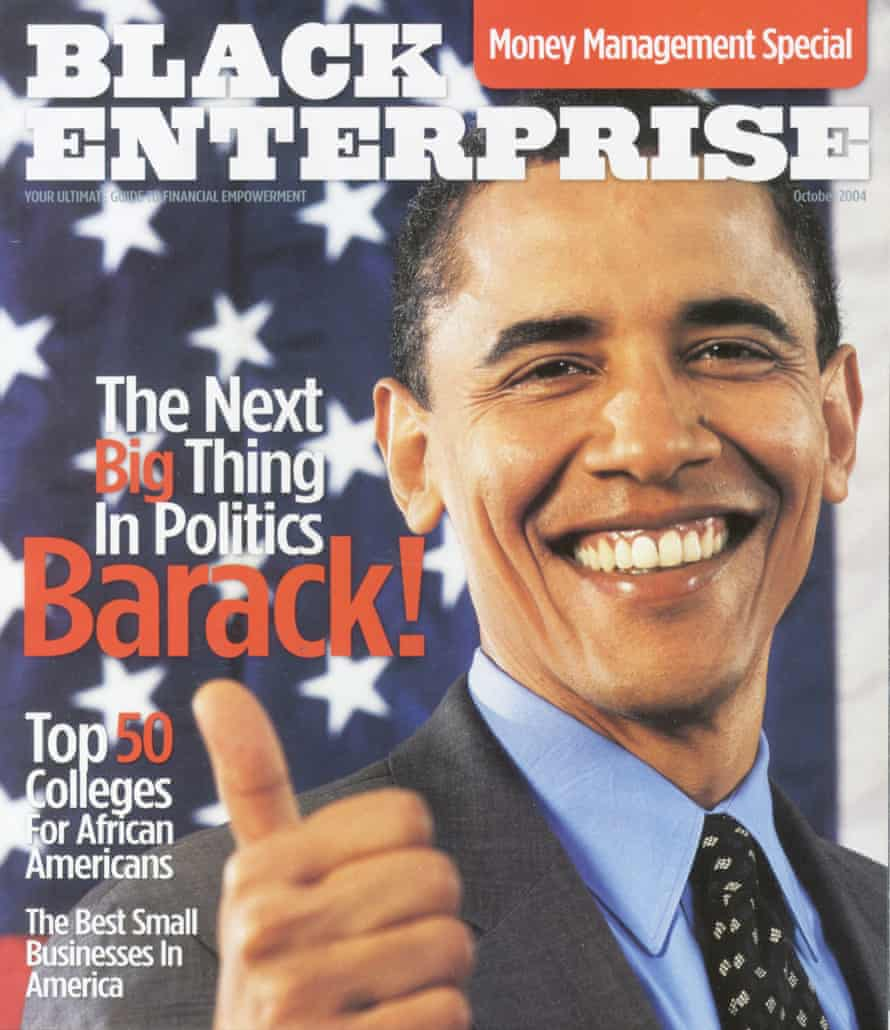 Barack! A 2004 issue of Black Enterprise magazine.