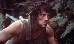 Stallone as Rambo, in 1982's First Blood