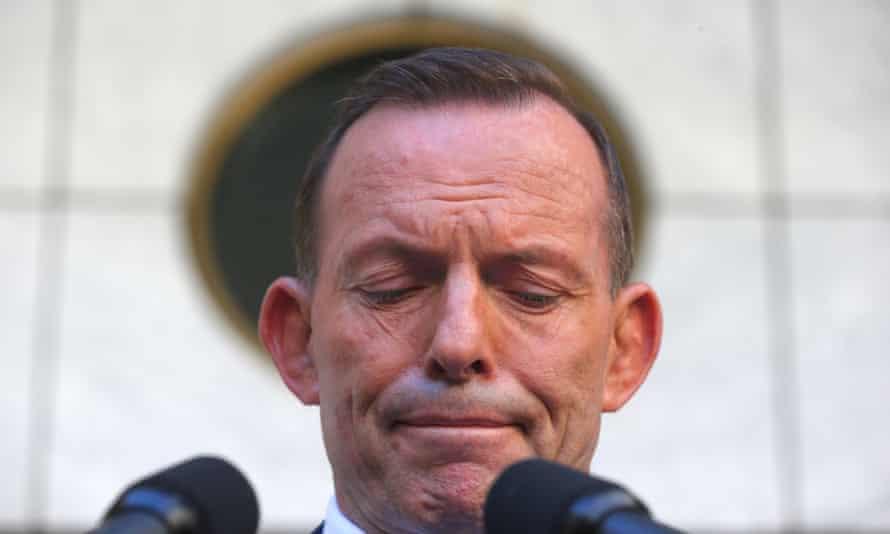 Tony Abbott addresses the media for the last time as prime minister on 15 September 2015.