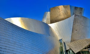 Bilbao, the Guggenheim Museum of modern and contemporary art museum designed by Canadian-American architect Frank Gehry.