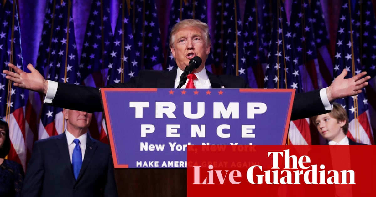 US election night 2016 – as it happened | US news | The Guardian