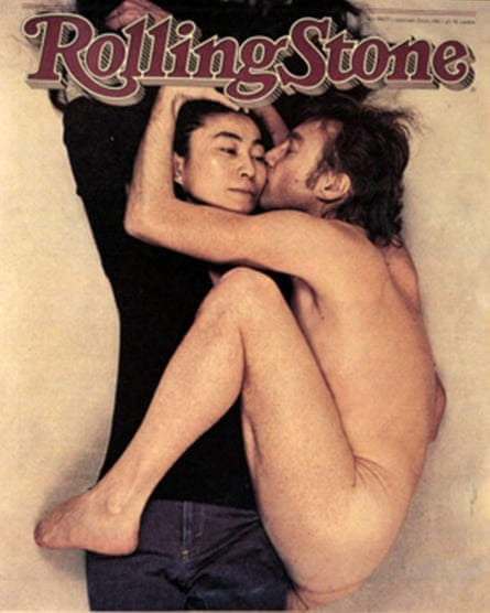 Annie Leibovitz's famous Rolling Stone cover from 22 January 1981 shows John Lennon and Yoko Ono, taken hours before Lennon died.