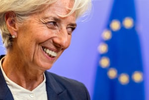 "Managing Director of the International Monetary Fund Christine Lagarde smiles as she leaves after a meeting of eurozone heads of state at the EU Council building in Brussels on Monday, July 13, 2015. A summit of eurozone leaders reached a tentative agreement with Greece on Monday for a bailout program that includes ""serious reforms"" and aid, removing an immediate threat that Greece could collapse financially and leave the euro. (AP Photo/Geert Vanden Wijngaert)"
