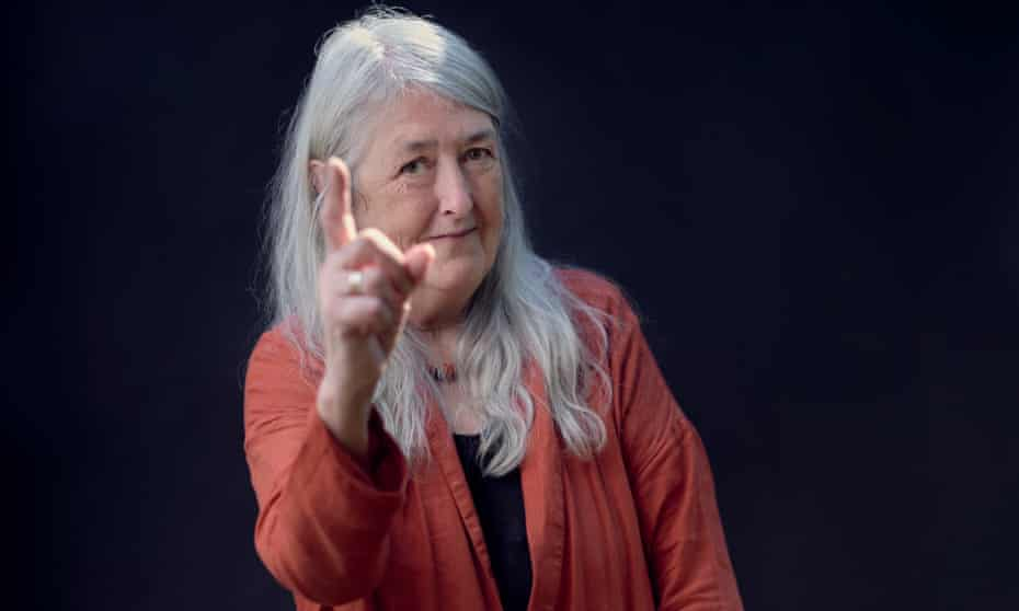 Mary Beard photographed in Cambridge by Amit Lennon for the Observer.