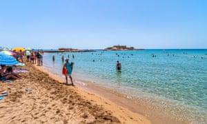 The beach at Isola delle Correnti, south of Portopalo.