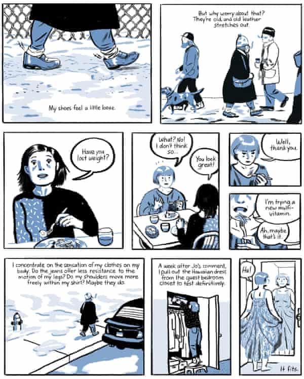 Panels from Jillian Tamaki's Boundless