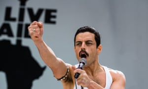 Actor Rami Malek plays Freddie Mercury