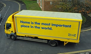 An Ikea home delivery lorry.