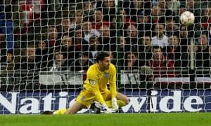 Carson failed to save Nico Kranjcar's shot that put Croatia 1-0 up in their Euro 2008 qualifier, which saw England fail to reach the tournament.