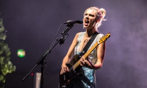 Ellie Rowsell of Wolf Alice performing at Brixton Academy.