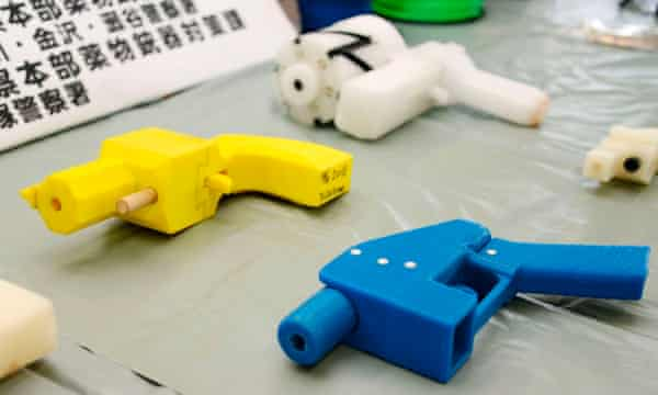 Seized plastic handguns