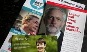 Campaign leaflets posted through the door