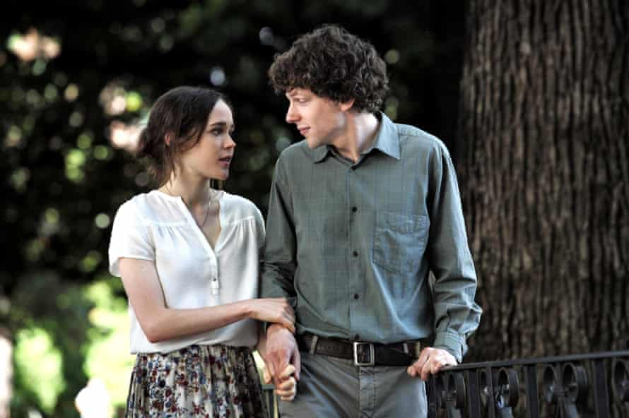 Actors Ellen Page and Jesse Eisenberg in Woody Allen's film To Rome With Love