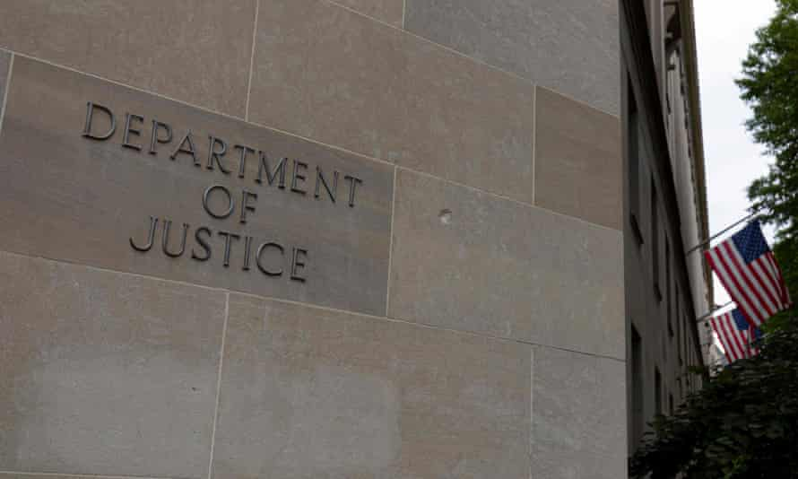 The US Department of Justice building is seen in Washington.