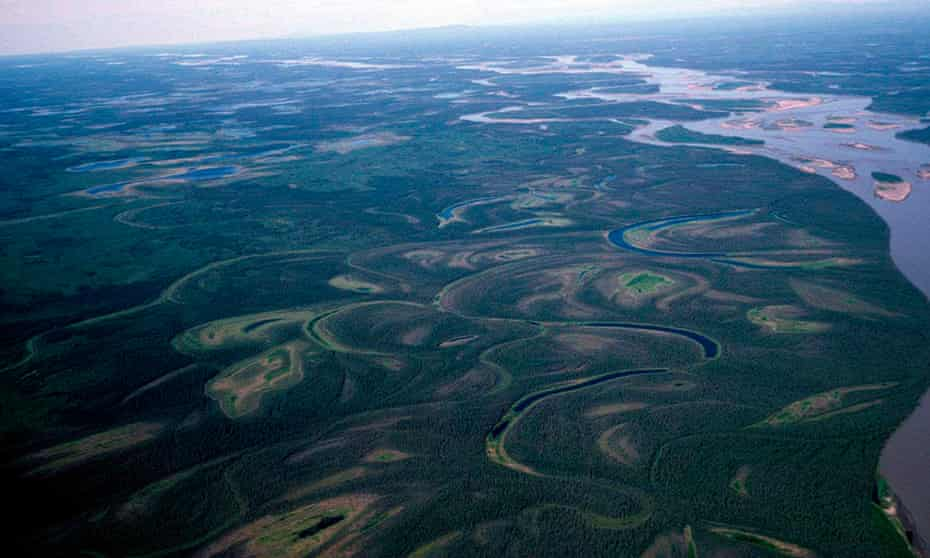 the Yukon River, seen in Alaska.