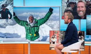 Ben Fogle talking about his Everest climb on the Good Morning Britain TV show