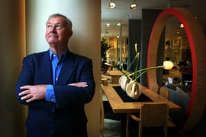 Terence Conran in his London shop in 2001.