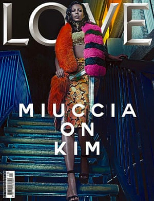 Kim Kardashian on the cover of LOVE Magazine