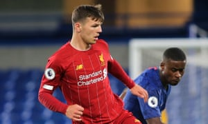 Bobby Duncan in action for Liverpool's under-23s against Chelsea this month.