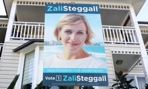 A view to change: a campaign poster for Zali Steggall in the Sydney seat of Warringah.