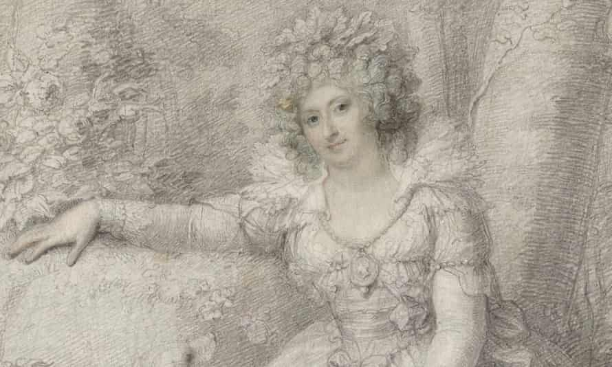 Maria Fitzherbert's lover, the Prince of Wales, received a tiny painting of his eye.