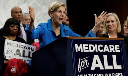 Elizabeth Warren speaks during an event to introduce the Medicare for All Act of 2017 on Capitol Hill.