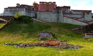 A replica of Tibet's Potala Palace at the Splendid China park in Shenzhen.