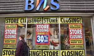 Everything must go ... closing down sale at a north London BHS store.