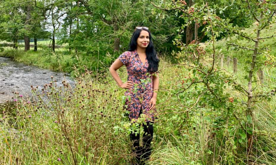 Anita Sethi by the River Aire in Gargrave.