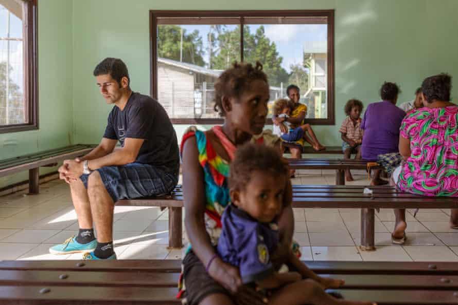 Karam Zahirian in the local hospital in Lorengau, the capital of Manus. Zahirian says the healthcare is inadequate.