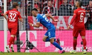 Sargis Adamyan after scoring the opening goal against Bayern Munich.