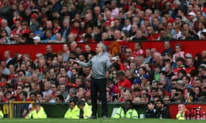 José Mourinho on the Old Trafford touchline.
