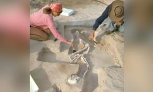 Mungo Man which was found in 1974. Mungo Man's remains are now being repatriated to Australia.