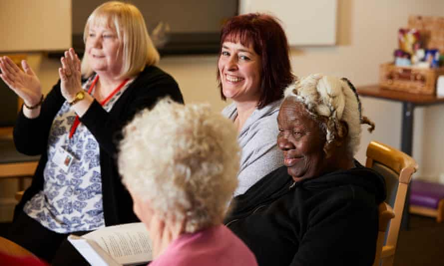 Jane Holliday working with older people in Barnsley