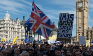 The Unite for Europe rally in Parliament Square on 25 March before the government formally invoked article 50