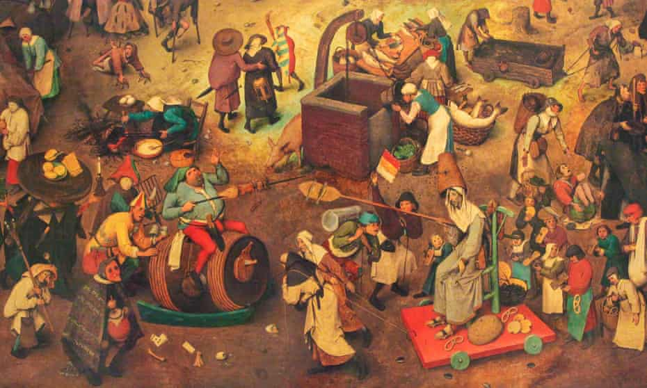 Everyday symbolism … detail from Pieter Bruegel the Elder's The Fight Between Carnival and Lent (1559).