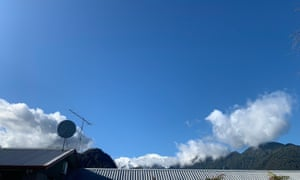 Tourists hadn't seen blue blue sky in Franz Josef for up to a week.